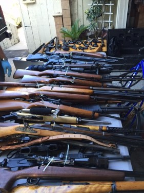 Recovered Firearms long beach police