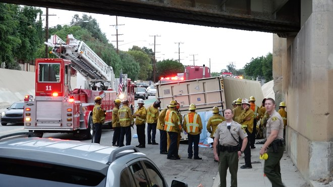 Fatal semi truck accident long beach