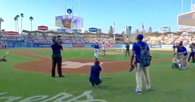 Los Angeles Dodgers host Fallen Long Beach Firefighters Captain Dave Rosa's family tonight