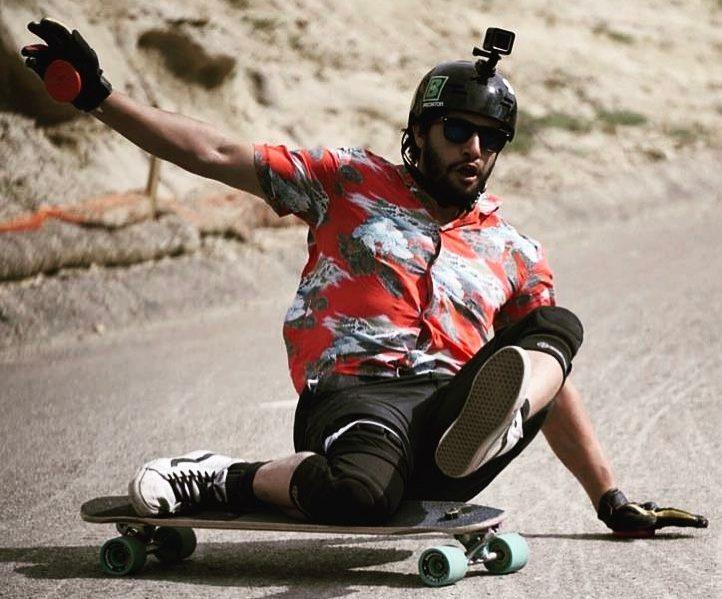 Photo of Sam Arrington sliding on the Seismic 73mm Speed Vent