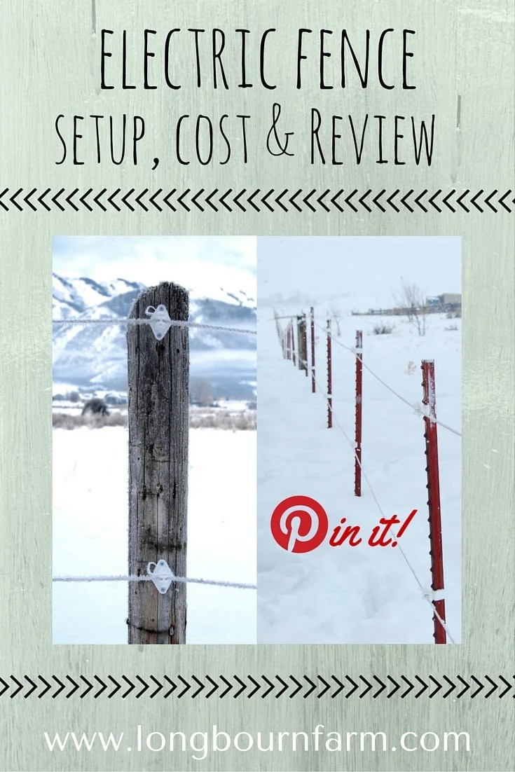 Read a very detailed review on setting up an electric fence. Check out information on cost, how we set it up, and durability!