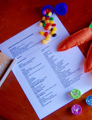 Cooking tips for Holidays and Parties, plus and Easter Menu!!