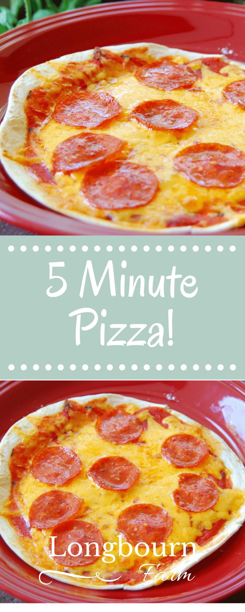5 Minute Pizza • Longbourn Farm