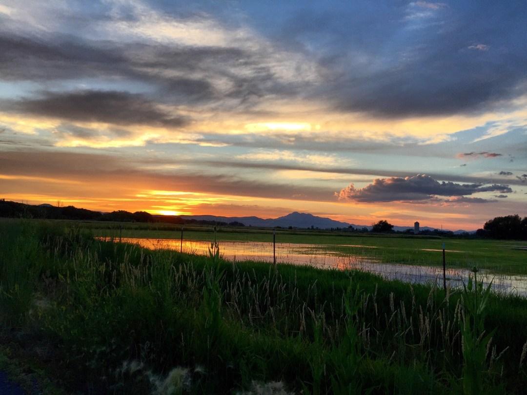 Sunset across the Bear River