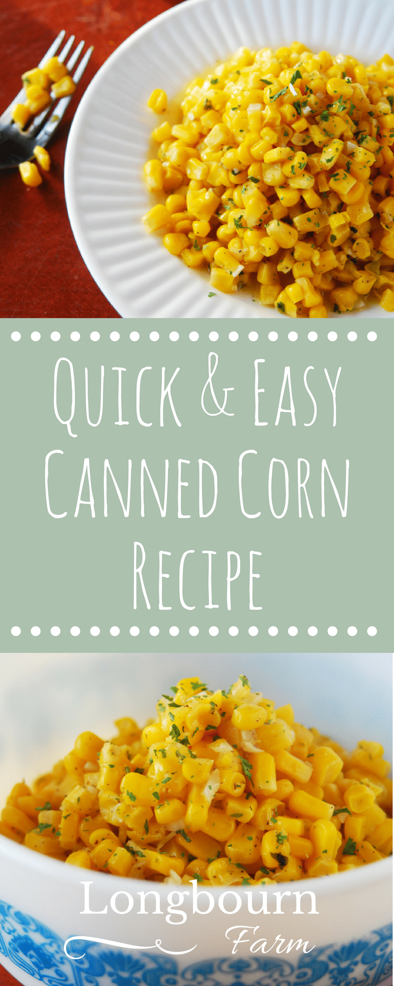Canned corn doesn't have to be plain and boring. Check out this quick and easy canned corn recipe. You'll have a delicious and nutrition side in minutes!