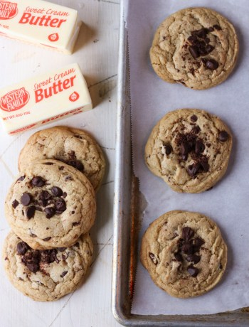 Browned butter chocolate chip cookies!