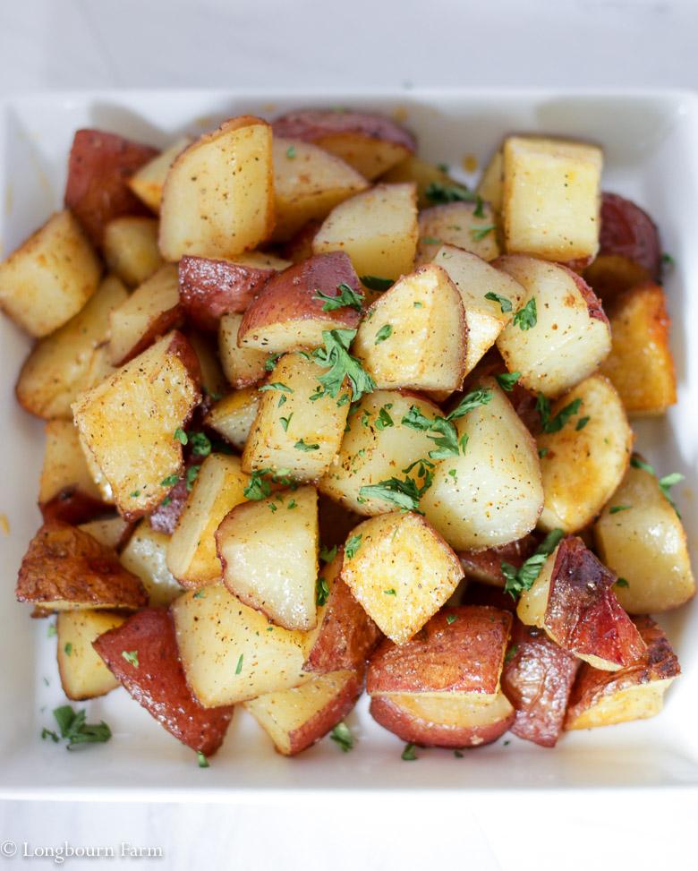 Crispy oven roasted potatoes!
