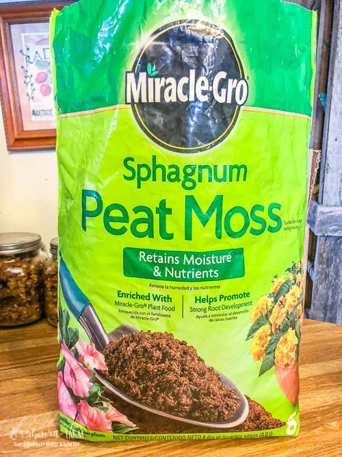 Small bag of Sphagnum Peat Moss.