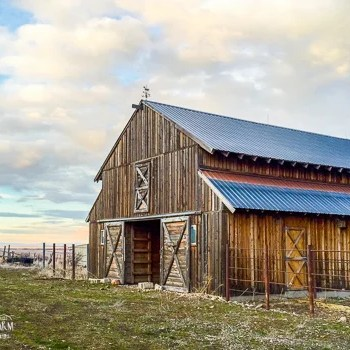 Old wood barn in Utah.