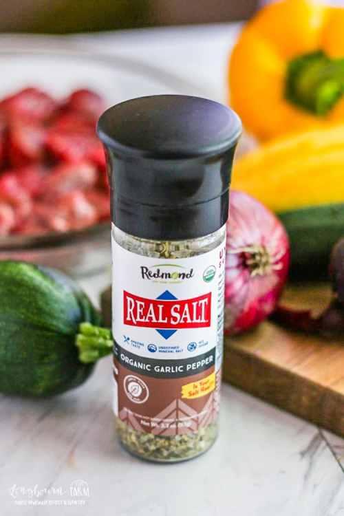 Redmond Real Salt Garlic Pepper.