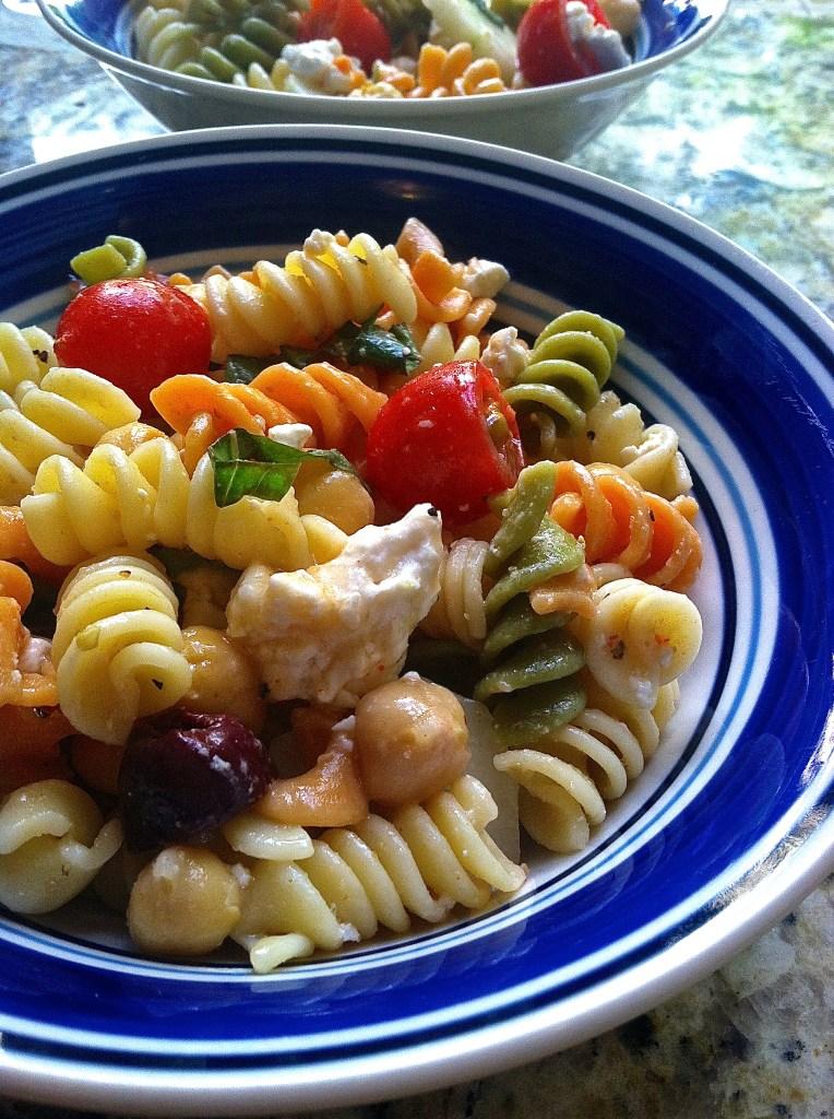 Mediterranean Style Pasta Salad   longdistancebaking.com