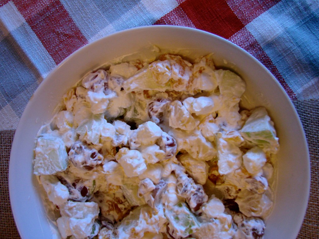 Fruit and Walnut Salad (Waldorf Salad) | longdistancebaking.com