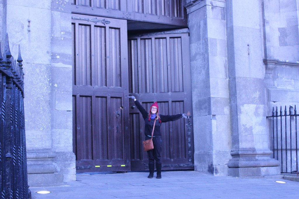 Me in front of the castle in Kilkenny.