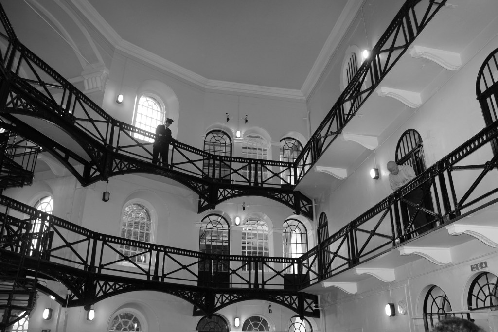 Crumlin Road Jail. The black & white makes it seem more eerie...