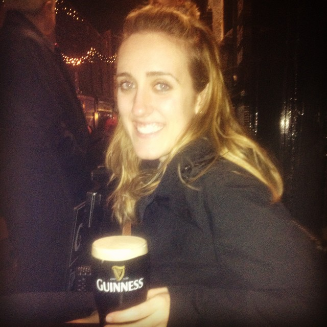 New Year's Eve Guinness in Galway.