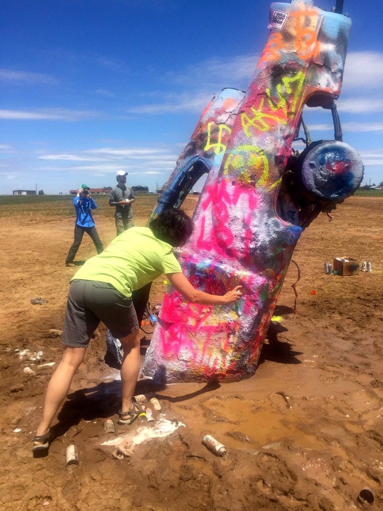 Cadillac Ranch, Amarillo, Texas | longdistancebaking.com