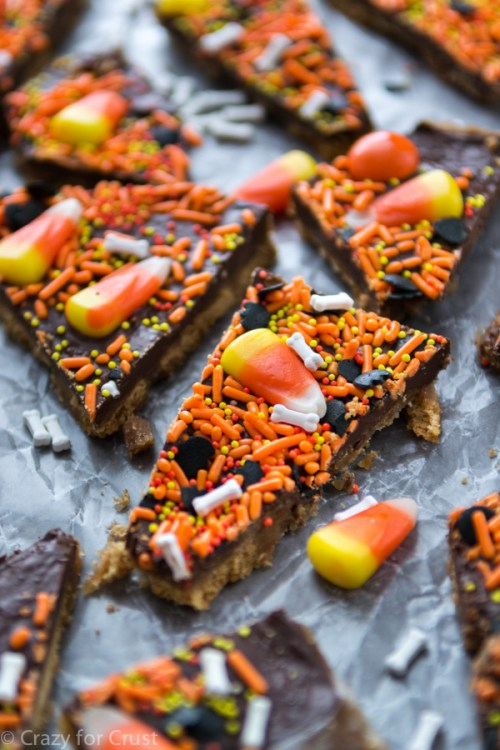 Halloween Toffee Bark by Crazy for Crust