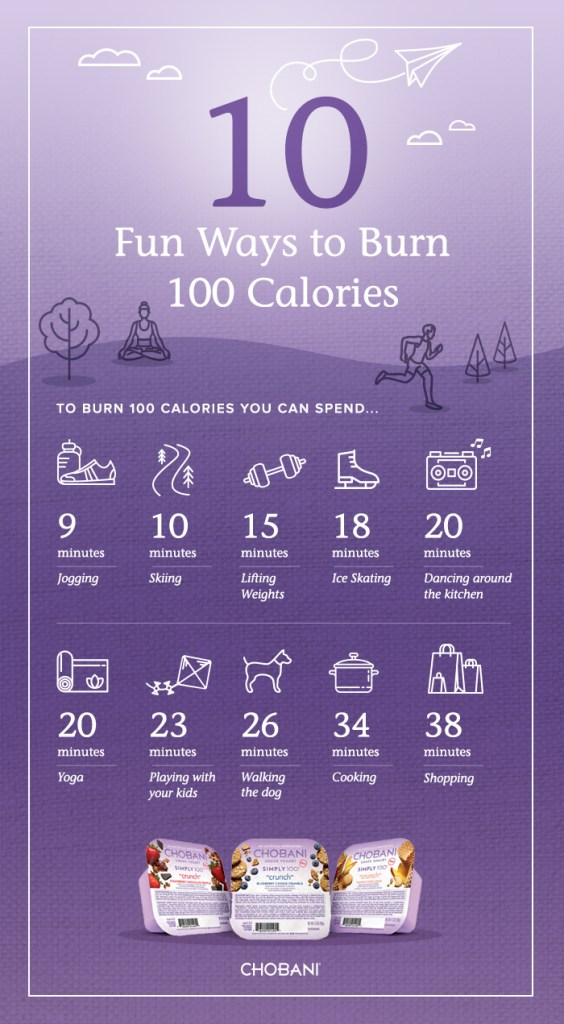 10 Fun Ways to Burn 100 Calories from Chobani | longdistancebaking.com
