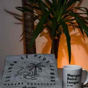 Pack Mug & Tee-shirt Homme «Le jour le plus longe» gris chiné, Anfibi