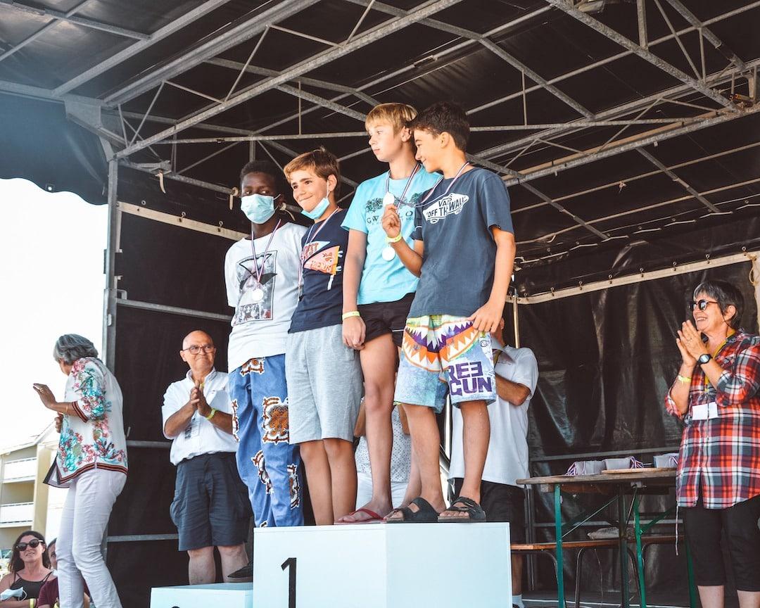Podium championnat longe-côte de Nouvelle-Aquitaine 2021