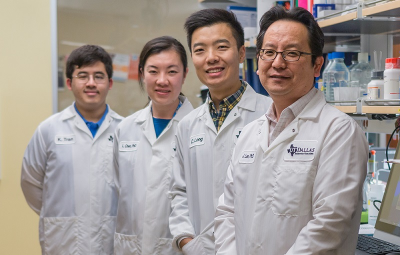 Members of the UT Dallas cancer stem cell study team,
