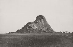 Linnaeus Tripe (British, Devonport (Plymouth Dock) 1822–1902 Devonport) Between Chittumputty and Teramboor. Elephant rock end view., January–February 1858 Lightly albumenized Salted paper print; image: 23.8 × 36.8 cm (9 3/8 × 14 1/2 in.) page size: 43.3 × 56.1 cm (17 1/16 × 22 1/16 in.) The Metropolitan Museum of Art, New York, (LT.BL.4) http://www.metmuseum.org/Collections/search-the-collections/643445