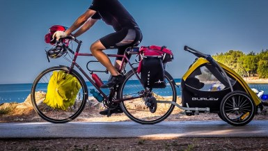 We cycled across Europe in the Burley Design Tail Wagon, a bike dog trailer, for nearly a year. Here, we provide an honest review of the Tail Wagon.