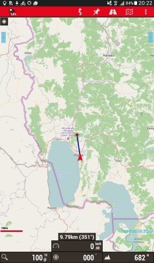 The Best Offline Mapping Tools For Cycle Touring - Map route distance tool
