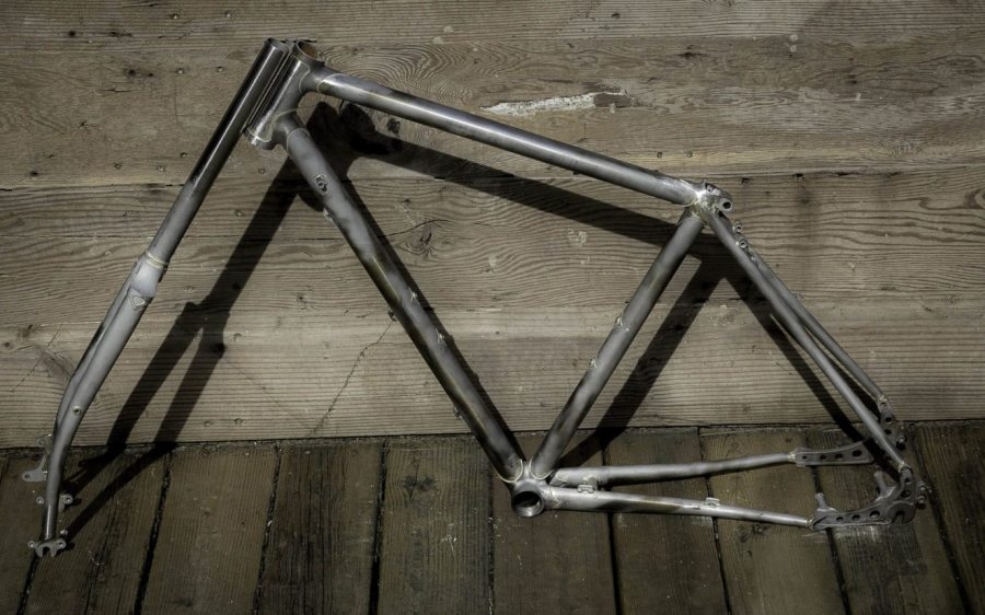 Unfinished bike frame