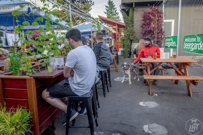 Beer Garden tap house in Eugene, Oregon.