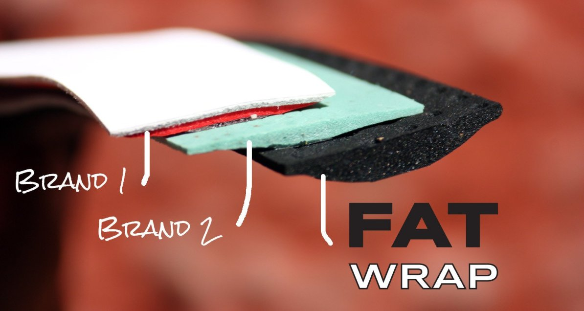 FAT WRAP bar tape by Tasis is the most comfortable handlebar tape on the market.