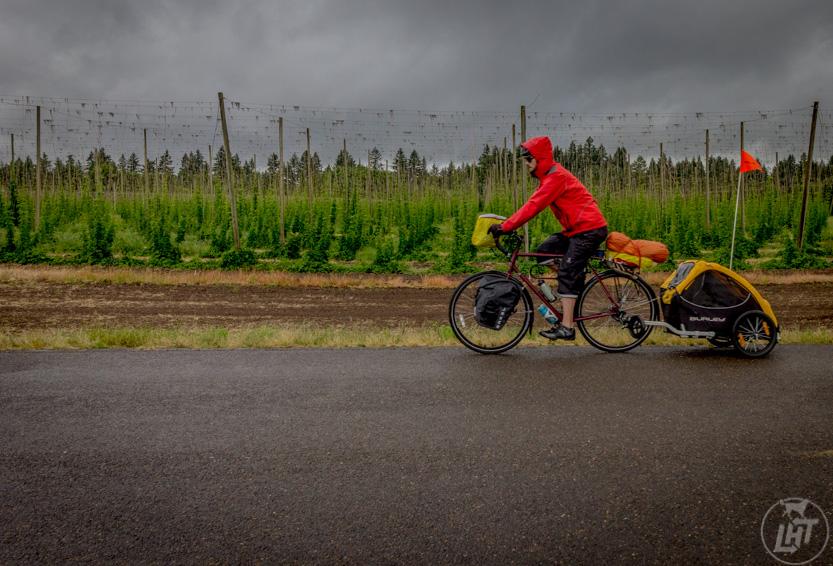 The Burley Tail Wagon Bike Trailer in Oregon.