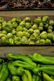 Peppers and tomatillos, oh my!