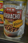 I saw this on the Homesick Texan blog and had to see it for myself. Yes, borracho beans with Texas-brewed Shiner beer - a match made in canned bean heaven.