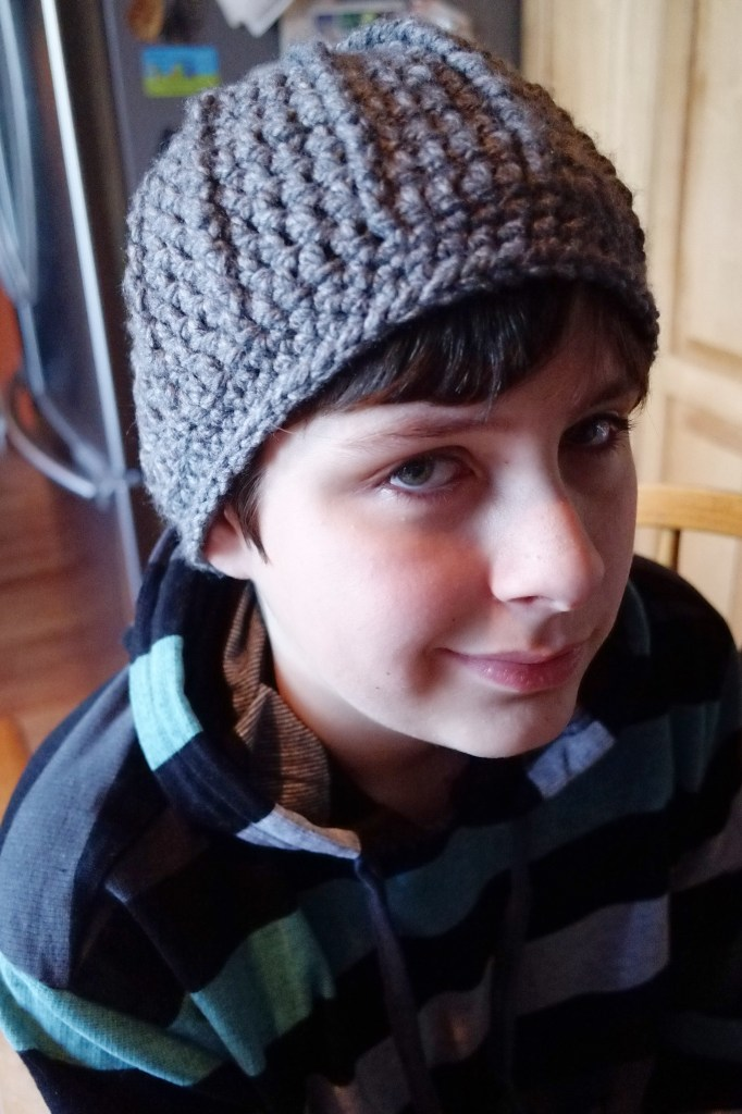 crohchet winter hat for teen boys