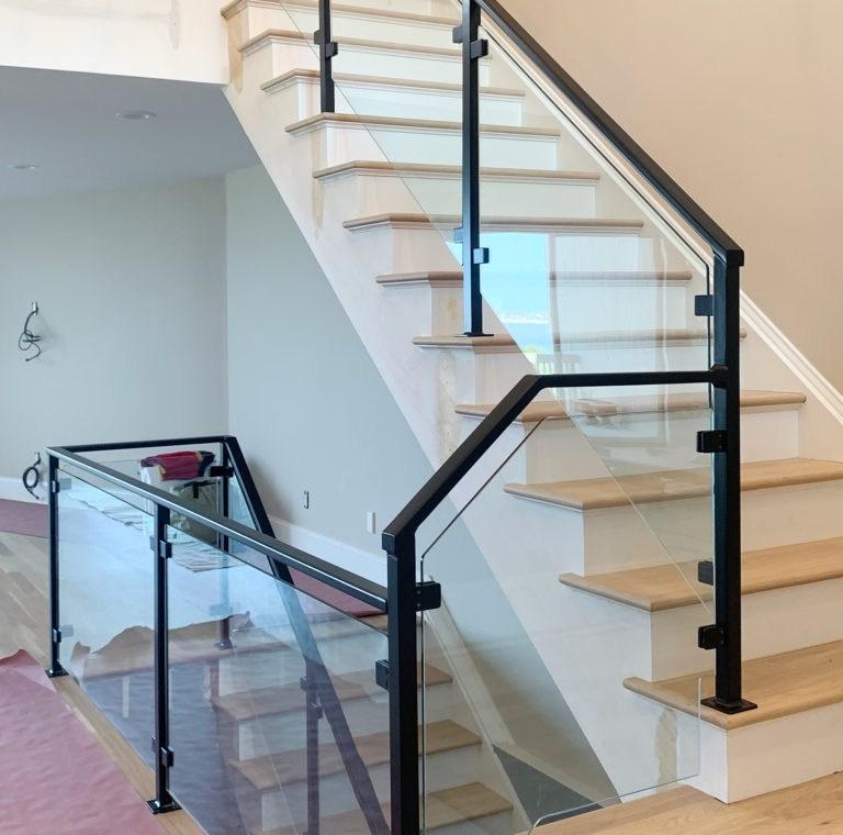 Long Island Stair Railings Gallery Long Island Custom Railings | Long Island Custom Railings | Wrought Iron | Aluminum Railings | Staircase | Stairs | Porch