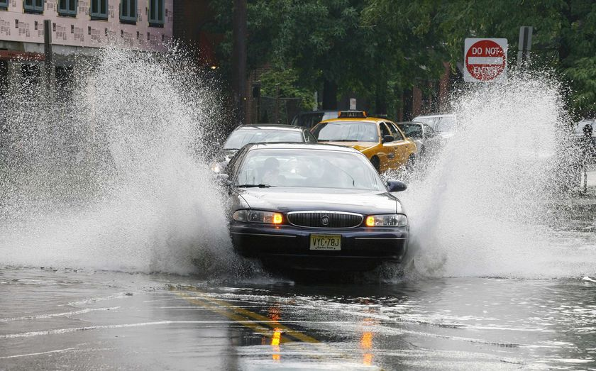 A Flooded Street in NYC