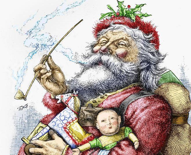 Image result for thomas nast santa claus