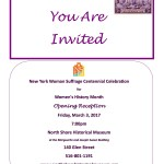 Join Us for a Women's History Month Reception!