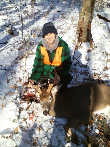 Steph Hample with her first buck.