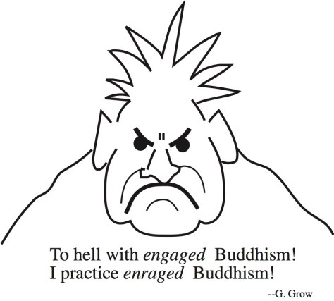 Enraged Buddhism drawing