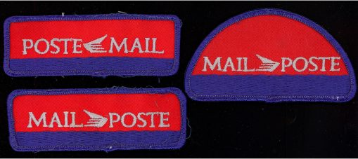 1980s Three Canada Post uniform badges, embroidered