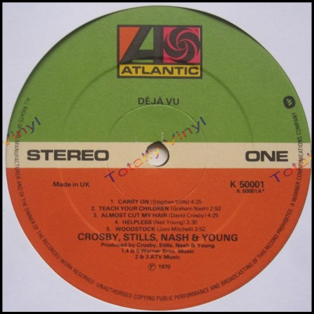 Crosby, Stills, Nash & Young vinyl
