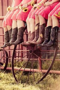 bridesmaid country wedding ideas cowgirl boots