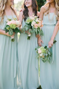 bridesmaids country wedding gowns