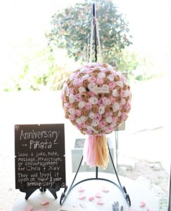 wedding pinata of roses