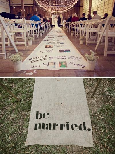 creative wedding aisle runners