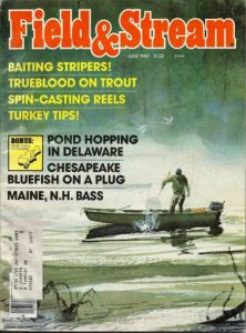 A vintage field and streams magazine cover, clays issue
