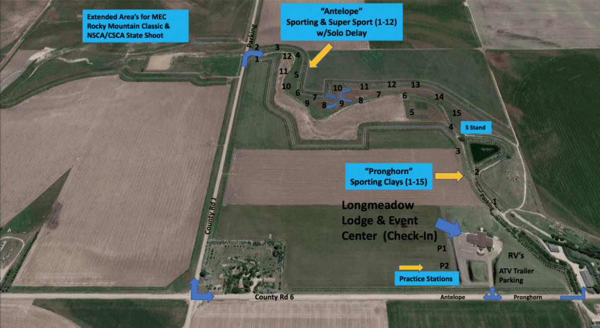 A map of Longmeadow Clays Club