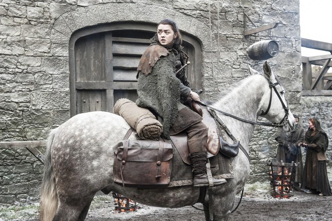 Arya Stark on her way to Kings Landing